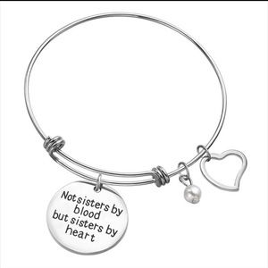 Sisters by Heart Adjustable Wire Bangle
